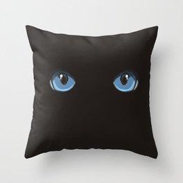 Black Ninja Cat Throw Pillow