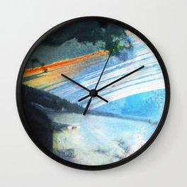 sun over the bay (pinhole camera) Wall Clock