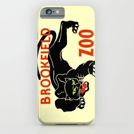 Black panther Brookfield Zoo ad iPhone Case