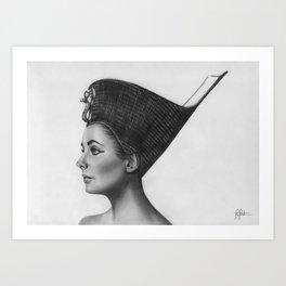 Elizabeth Taylor as Cleopatra Art Print