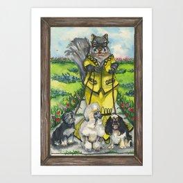 Dame Squirrel Art Print