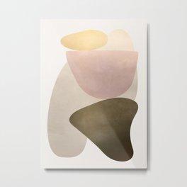 Shiny Abstact Shapes I Metal Print
