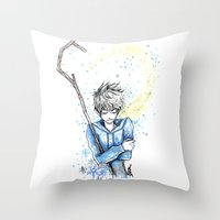 jack frost Throw Pillows featuring Frost by ShinArk