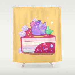 Berry Kitty Cake Shower Curtain