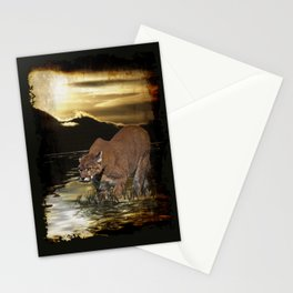 Night of the Cougar Stationery Cards