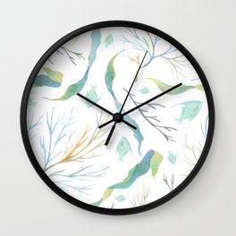 Coral Sea Life Wall Clock