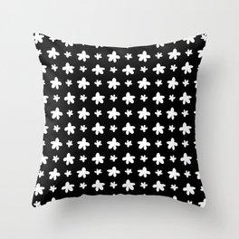 stars 134 - black and white Throw Pillow