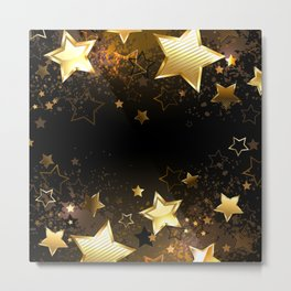 Background with golden stars Metal Print