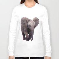 baby elephant Long Sleeve T-shirts featuring Baby Elephant by Erika Kaisersot