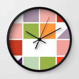 Pastel cube Wall Clock