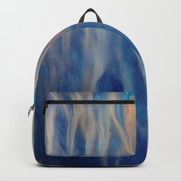 Sands of Time - Abstract Acrylic Art by Fluid Nature Backpack
