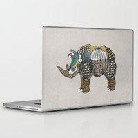 rhino Laptop & iPad Skins featuring Rhino by farah allegue
