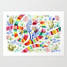 Dragon Deer Art Print
