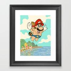 Super Mario! Framed Art Print