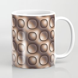 Brown glossy toned buttons. Coffee Mug