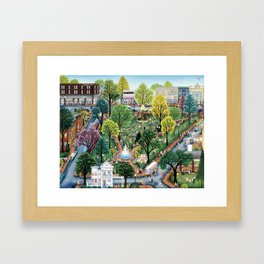 Summer In The Park by Kathy Jakobsen Framed Art Print