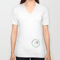 compass V-neck T-shirts featuring Compass by Omar VP