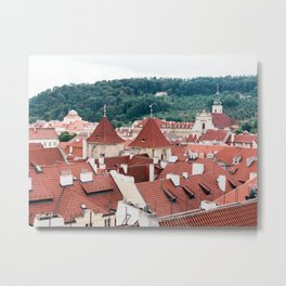 The Rooftops of Prague Metal Print