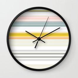 Blue Grey Gold Stripe Mix & Match Wall Clock