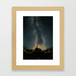 Moments of happiness Framed Art Print