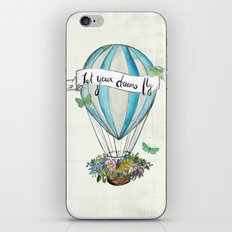 Let your dreams fly hot air balloon iPhone & iPod Skin
