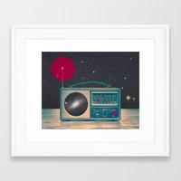 radio Framed Art Prints featuring Space Radio by Victor Vercesi