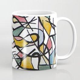 Geometric Abstract Watercolor Ink Coffee Mug
