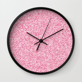 Spacey Melange - White and Dark Pink Wall Clock