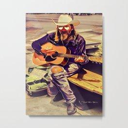 Guitar Man - Graphic 2 Metal Print