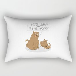 Let's Smash The Patriarchy Kittens Rectangular Pillow
