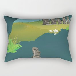 Easter island Rectangular Pillow