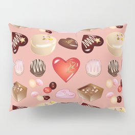Peace Love Chocolate Candy Pillow Sham