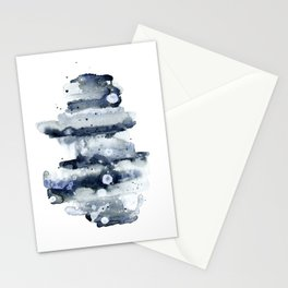 Indigo Abstract Watercolor No.1 Stationery Cards