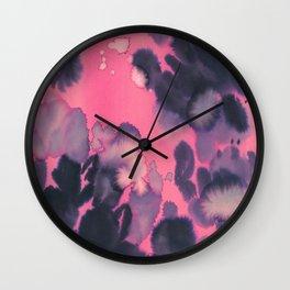 watercolor shapes collab Dylan Silva Wall Clock