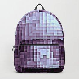 Nebula Pixels Dark Plum Purple Backpack