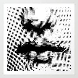 Lina Cavalieri - nose and mouth Art Print