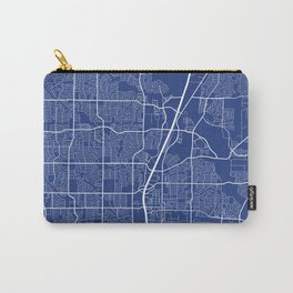 Plano Map, USA - Blue Carry-All Pouch