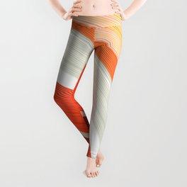 Shades of Orange Rings Leggings
