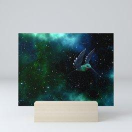 Space Hummingbird Mini Art Print