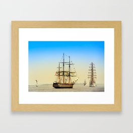 Sail Boston - Oliver Hazard Perry Framed Art Print
