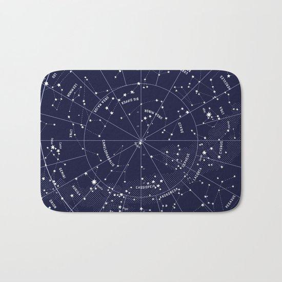 Constellation Map Indigo Bath Mat
