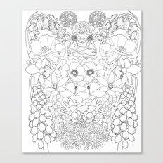 Mirrored Flowers Canvas Print