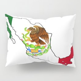 Mexico Map with Mexican Flag Pillow Sham