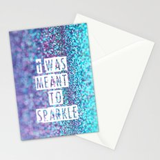 I was meant to sparkle-photo of glitter Stationery Cards