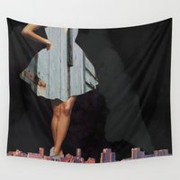 vogue Wall Tapestries featuring Rustic Vogue by Leah Moranville