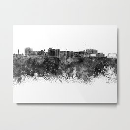 Duluth skyline in black watercolor Metal Print