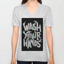 Wash your hands Unisex V-Neck