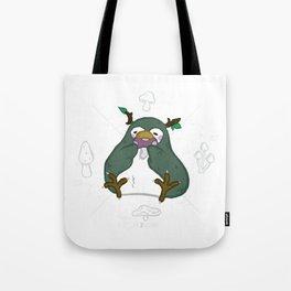 Zoo Bizarre I Wood Penguin Tote Bag