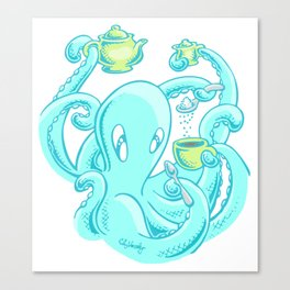 Squiggles: The perfect coffee Canvas Print