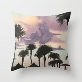 Sunset in St Pete Throw Pillow